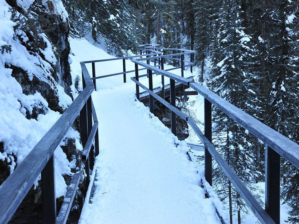 Ice walk trail in Alberta