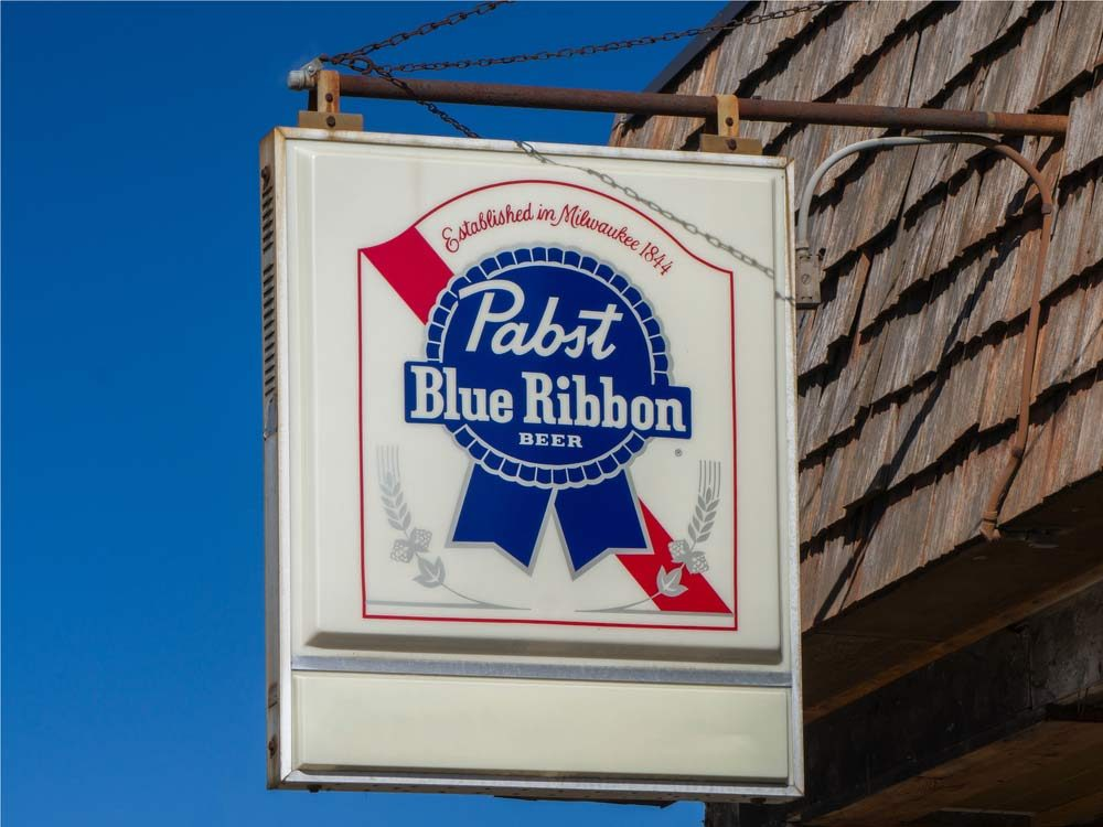 Pabst Blue Ribbon sign in Milwaukee, USA