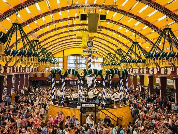 Annual Oktoberfest gathering in Munich, Germany