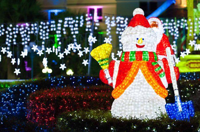 Christmas decorations in Edmonton