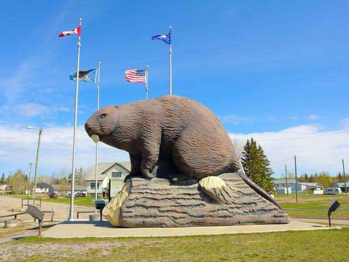 Giant beaver statue