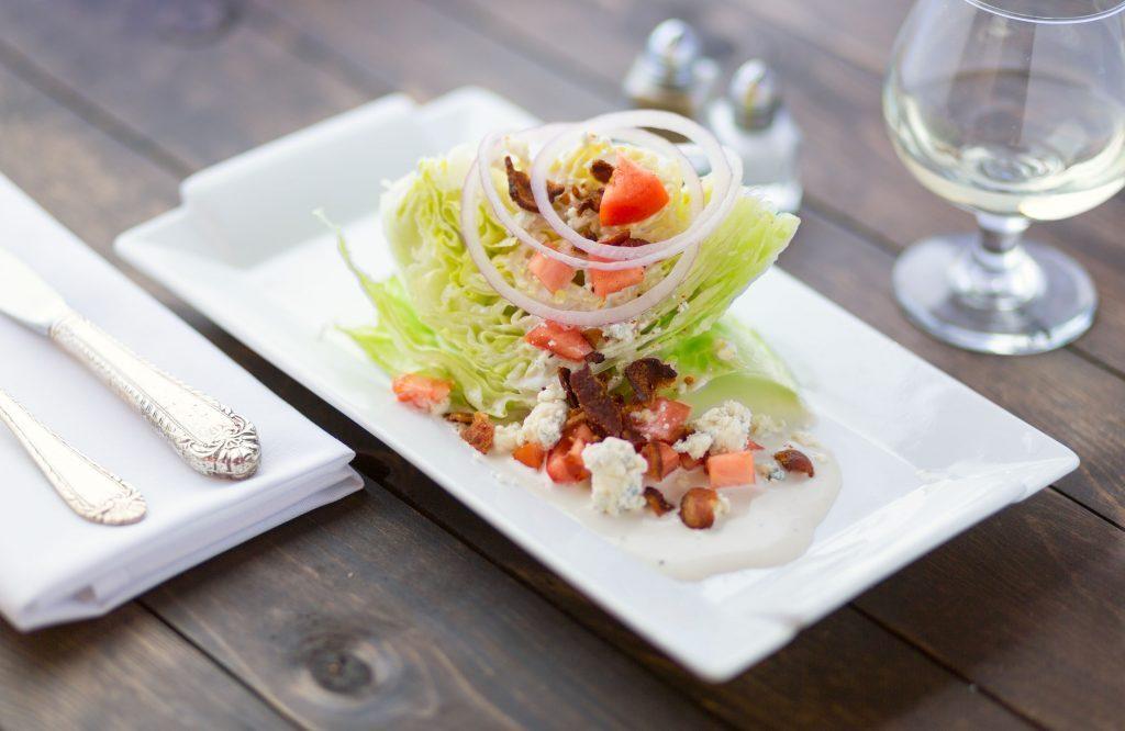 Iceberg lettuce wedge at restaurant