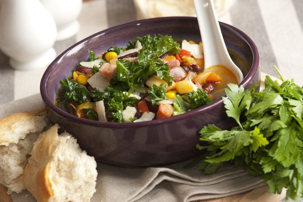 Great green vegetable recipes like kale soup