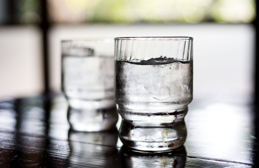 Glasses of tap water