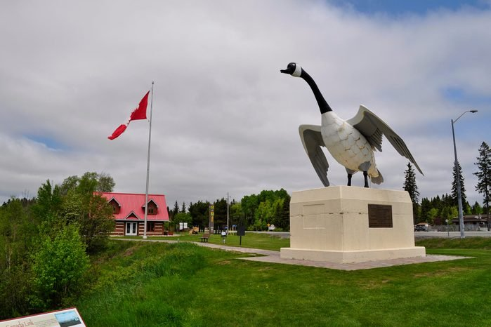Giant Canada Goose statue in Wawa, Ontario