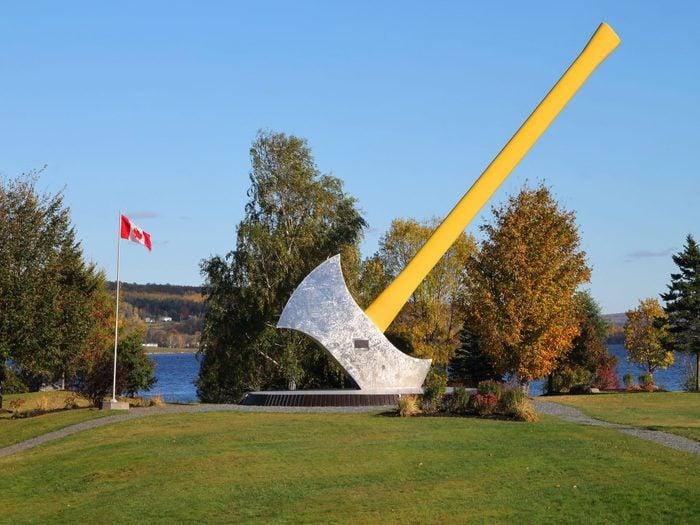 Giant axe statue