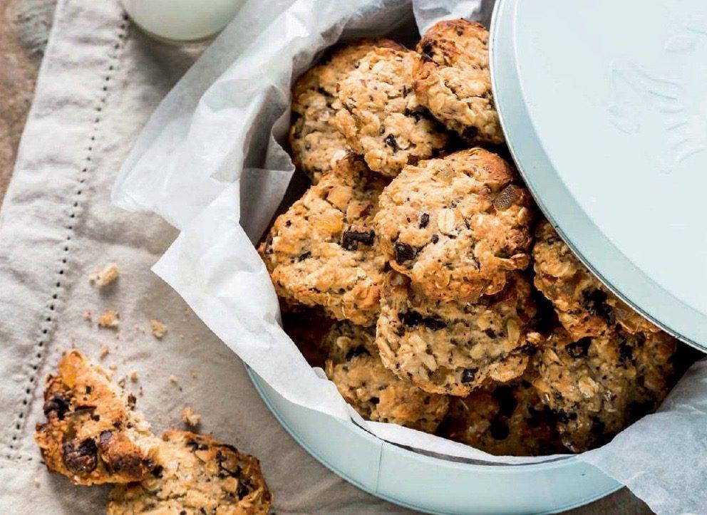 Healthy cookies in jar