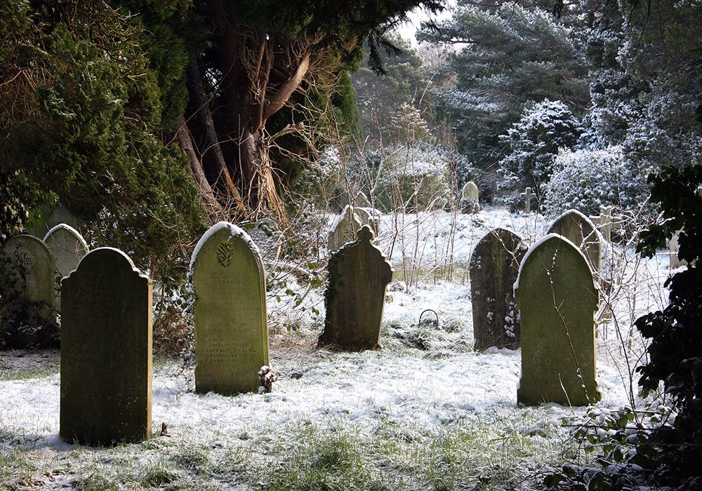 Cemetery at winter