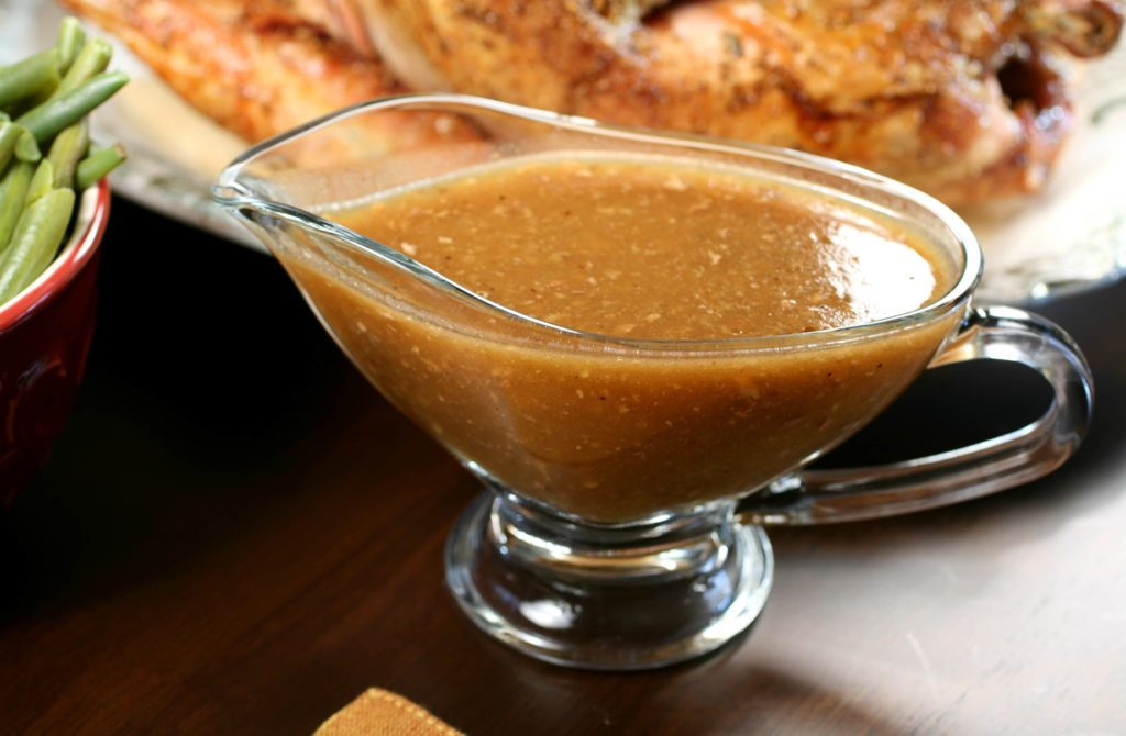 Holiday party gravy