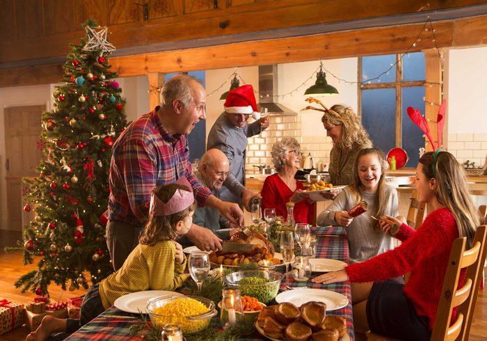 Family dinner at Christmas