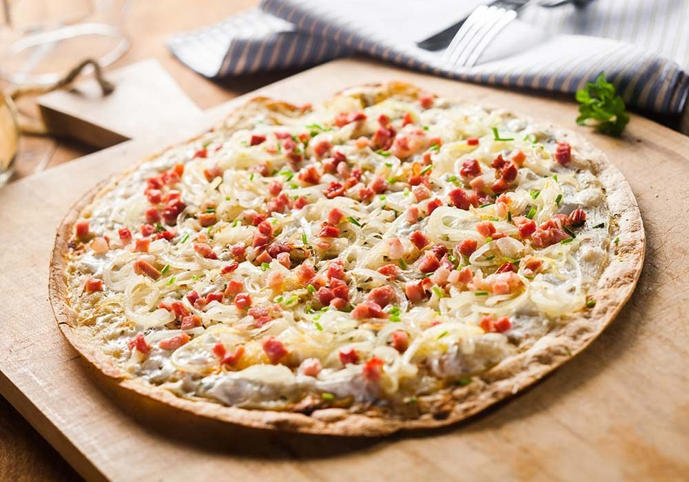 Thin-crust pizza
