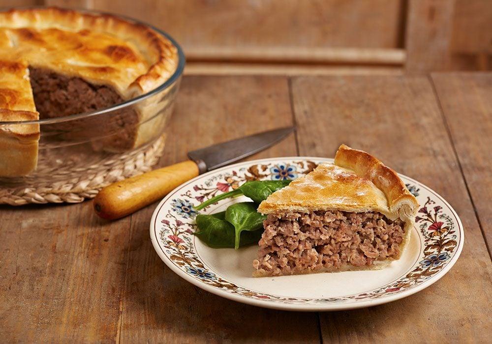 Tourtière, a meat pie dish