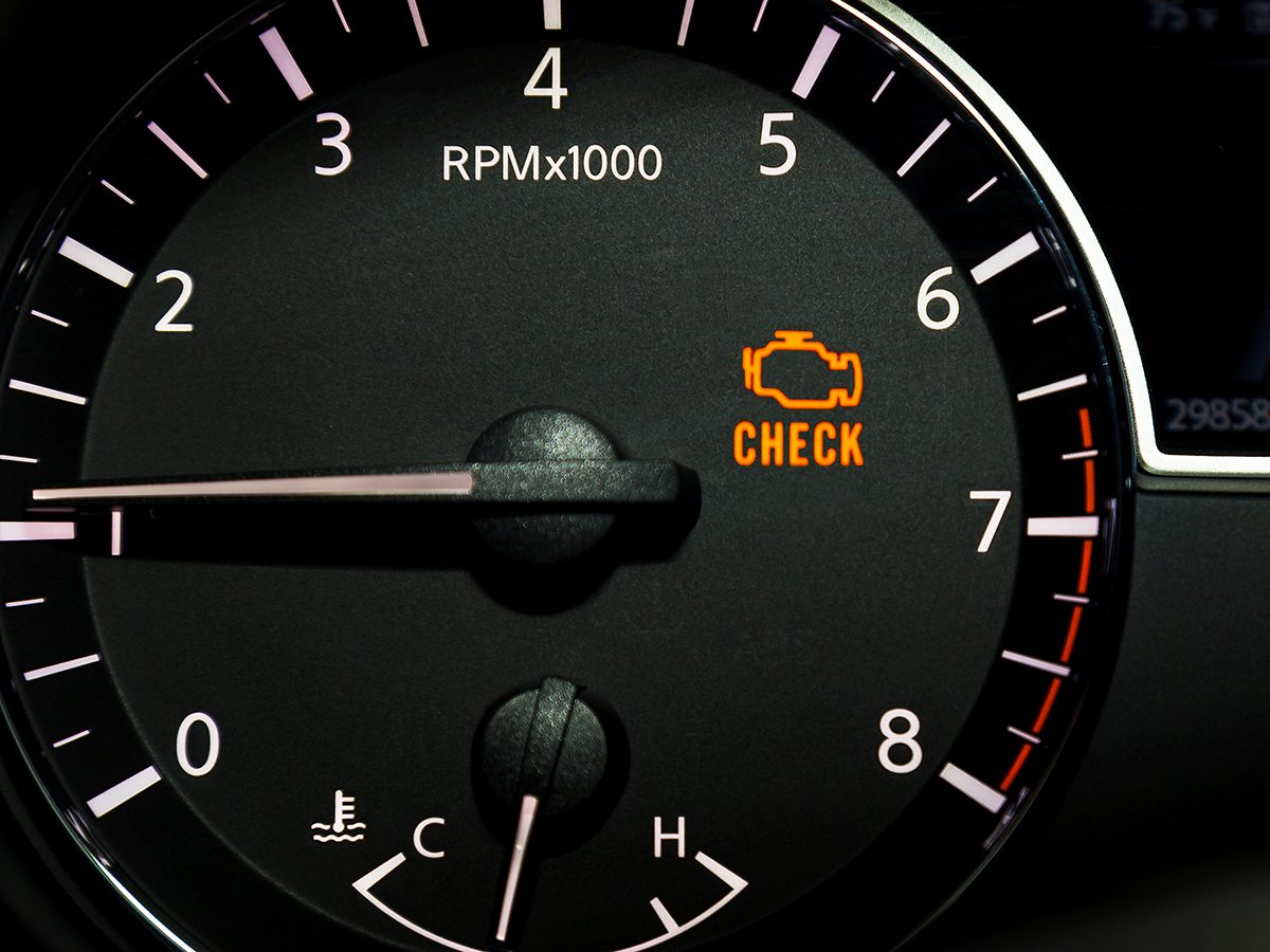 Mistakes that devalue your car - check engine light