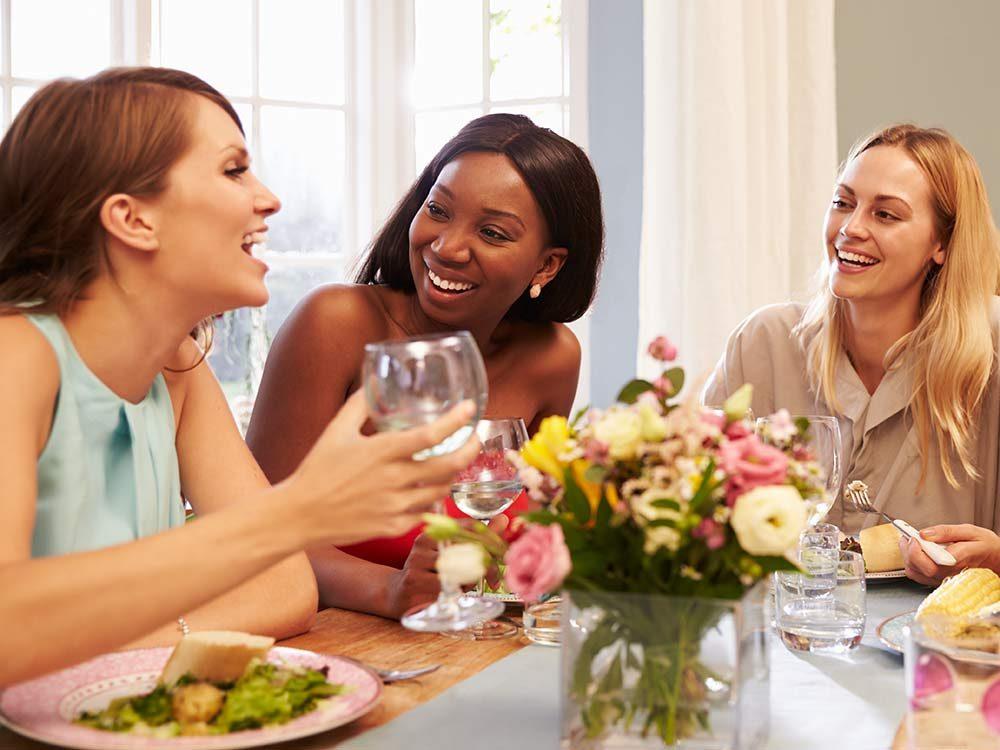Female friends having lunch