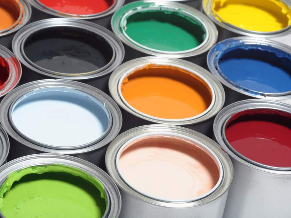 Use masking tape to keep paint cans clean
