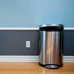 3. Disinfect Trash Cans