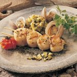 Scallops and Clams With Zucchini Tartare