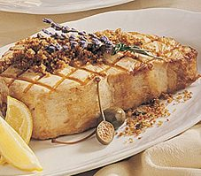 Swordfish With Olives and Lavender