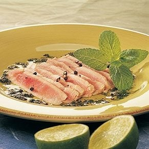 Marinated Tuna with Lime and Mint