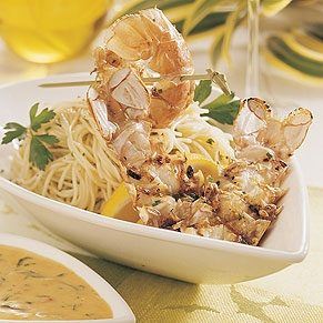 Grilled Scampi with Pasta