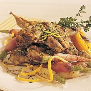 Grilled Quail with Gremolada