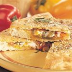 Foccacia with Peppers, Onion and Goat Cheese