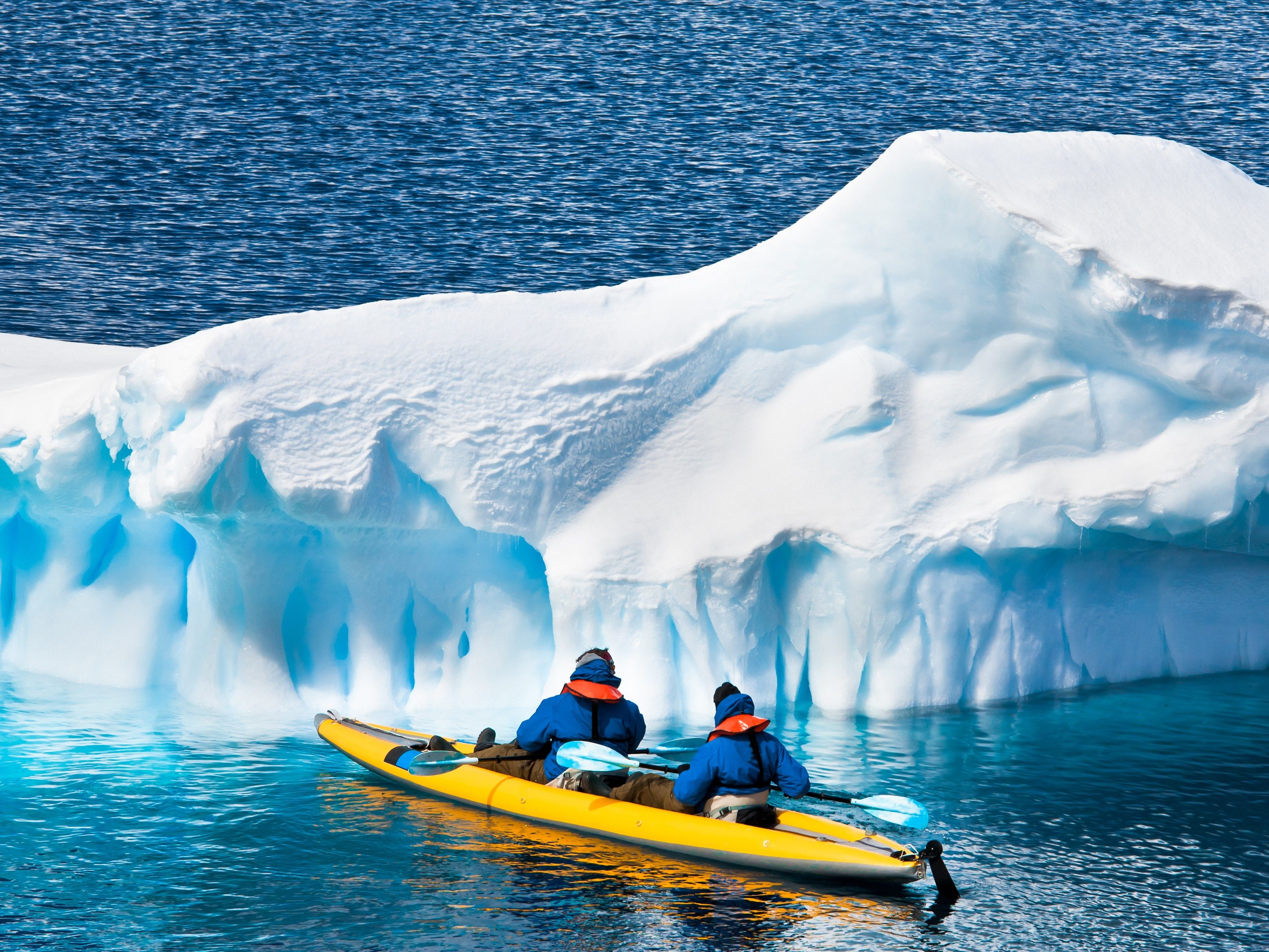 2. You Can Paddle Past Icebergs