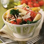 Rigatoni with Broccoli Rabe, Cherry Tomatoes & Roasted Garlic