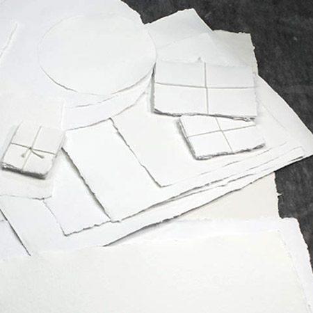 Handmade White 100% Rag Paper