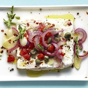 2. Baked Feta with Capers and Tomatoes