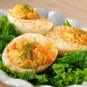 13. Hummus Deviled Eggs