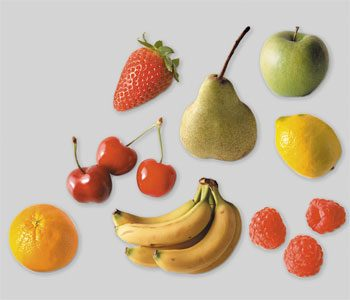 Look at the fruits below for 30 seconds and then cover them.
