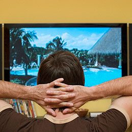 2. Rest Your Eyes at TV Commercials