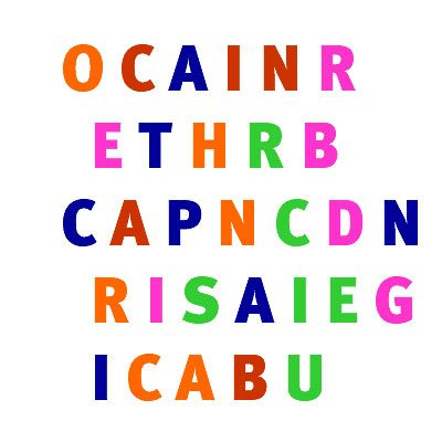 Look carefully at these letters: