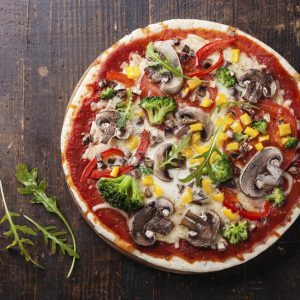 Rustic Mushroom and Vegetable Pizza