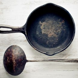 3. Clean a Cast-Iron Frying Pan