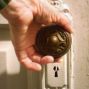 3. Mask Doorknobs when Painting