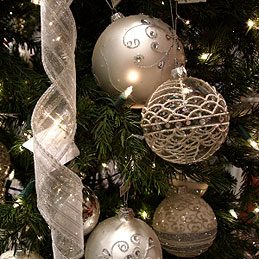 4. Hang Christmas Tree Ornaments With Twist Ties