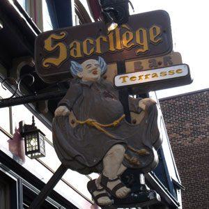 8. Bar Le Sacrilège, 447 rue St-Jean