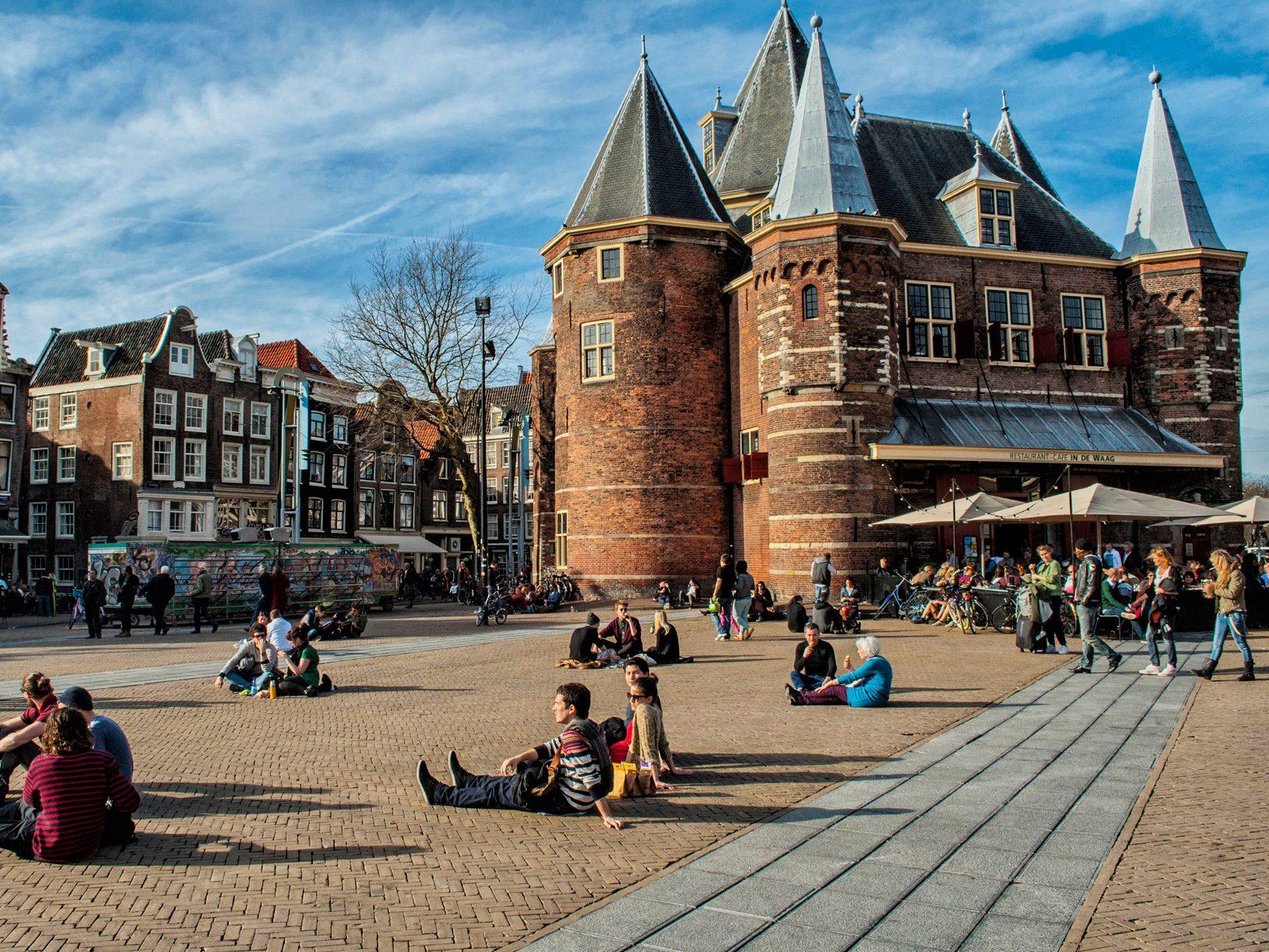 Take a seat: Nieuwmarkt Square
