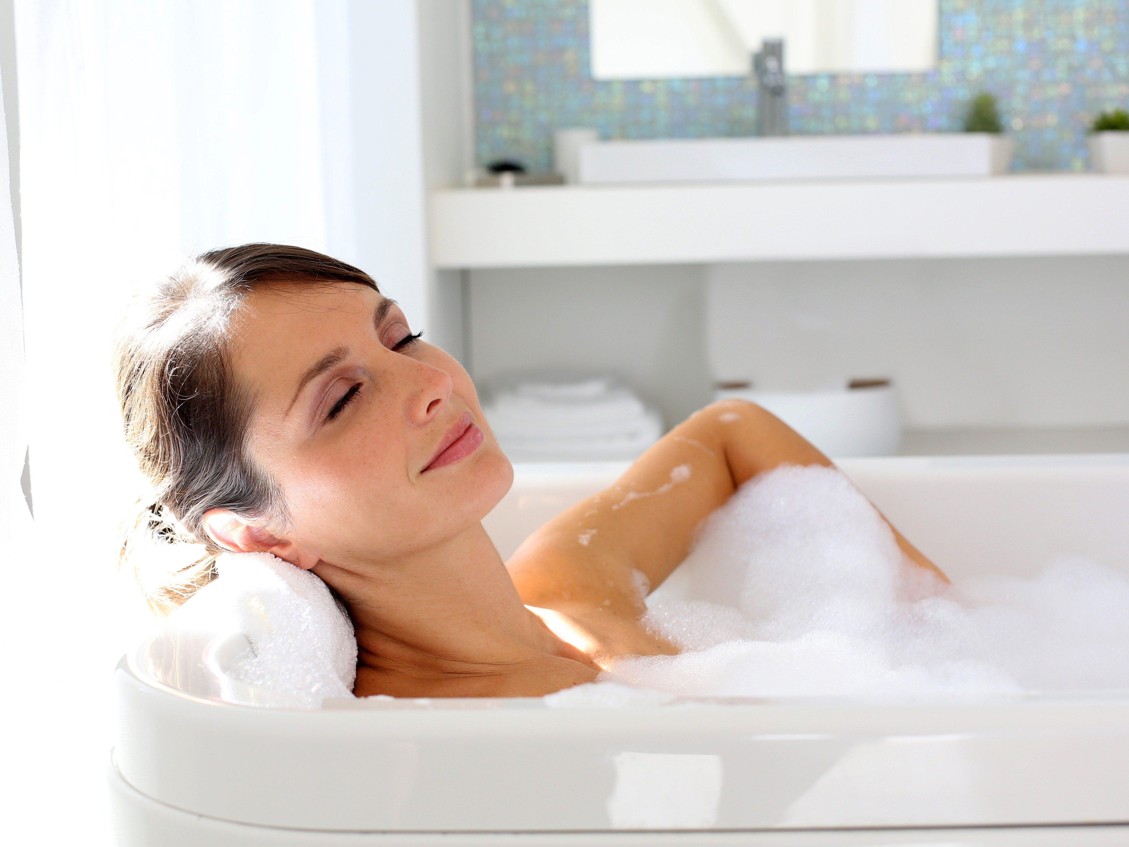 2. Take a warm bath.