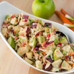 Cabbage and Apple Slaw with Blue Cheese Dressing