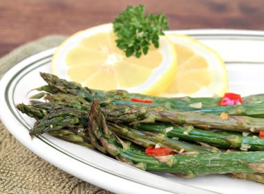 Roast Asparagus & Red Pepper with Parmesan