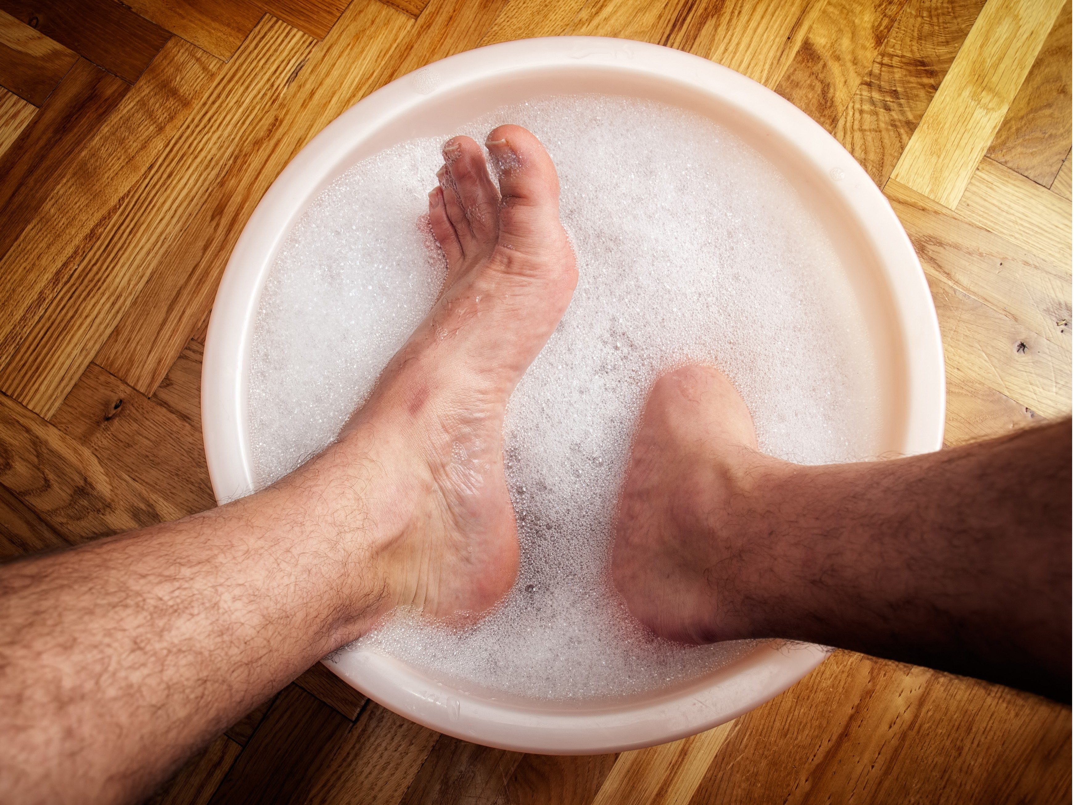 7. Soak your feet in Burow's solution