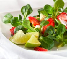 Avocado and Strawberry Salad with Bruschetta