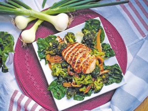 Baby Bok Choy and Chicken