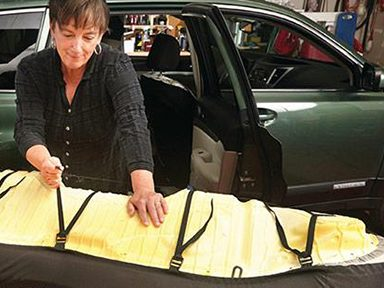 Customizing Car Seat Covers Step 7: Install rear bench seat cover