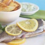 Baked Trout with Cucumber Sauce