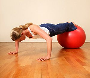 5. Stability Ball Push-up
