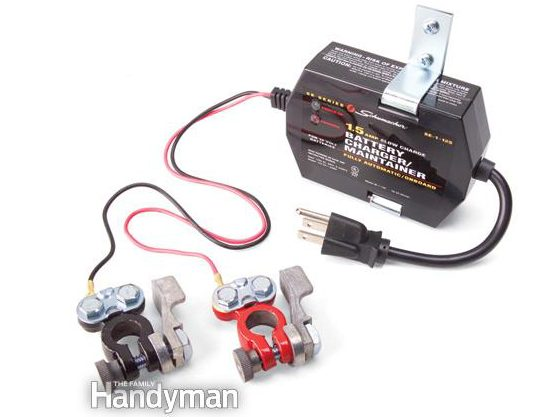 Battery Storage: Use a Battery Maintainer